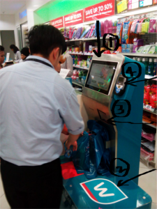 kiosk at watsons